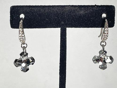 Swarovski Crystal Greek Cross Earrings