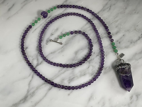Amethyst and Aventurine Necklace