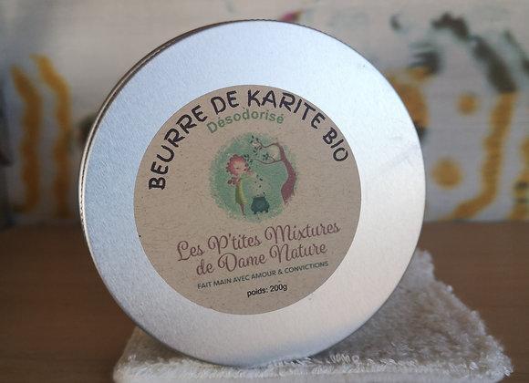 Beurre de karité bio désodorisé 200g