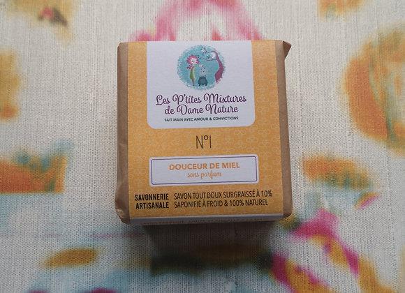 Savon n°1 emballé P'tites mixtures de Dame Nature 100g