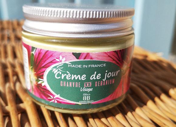 Crème de jour chanvre et géranium– PEAUX SÈCHES 50ml