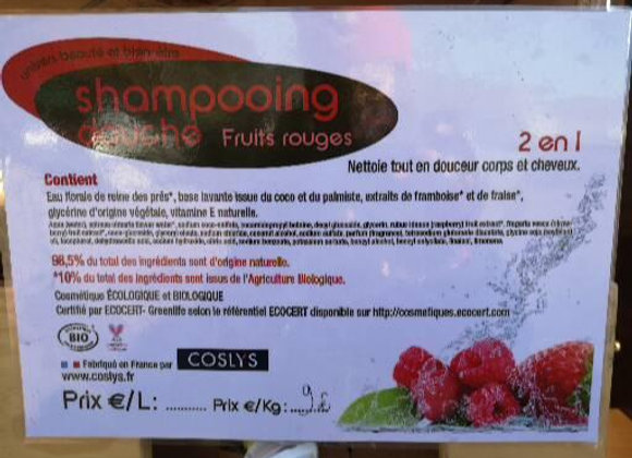 Shampoing douche fruits rouges 500g