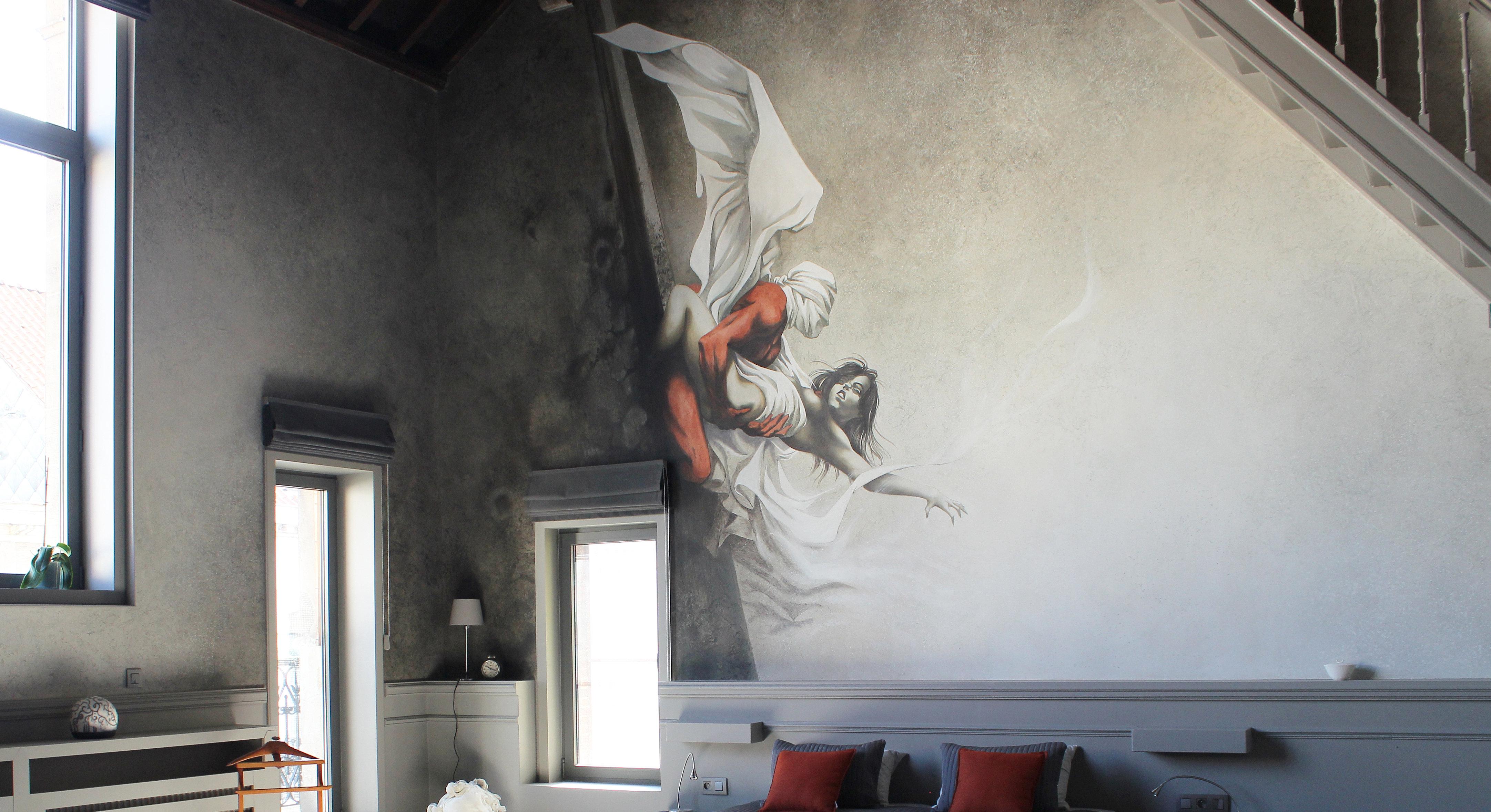 peinture peinture murale. Black Bedroom Furniture Sets. Home Design Ideas