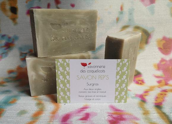 Savon Pep's 100g - Romarin, tea tree et niaouli