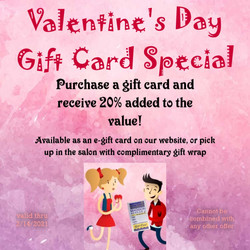Valentine's Day Gift Card Special!