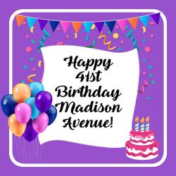 Happy Birthday Madison Avenue!