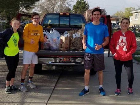 Service During COVID-19: Joshua Speth's Food Drive