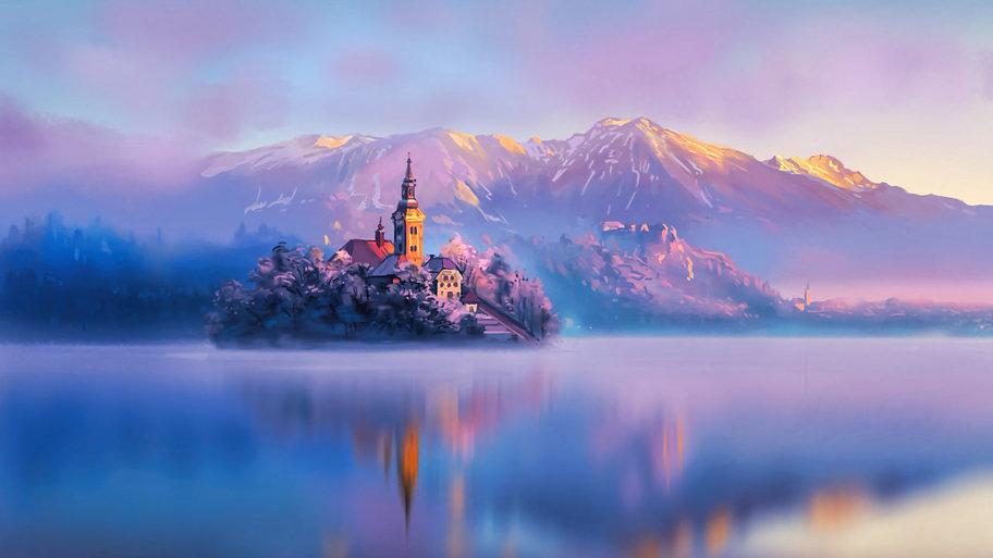 Digital Art Mountains wallpaper  11.jpg