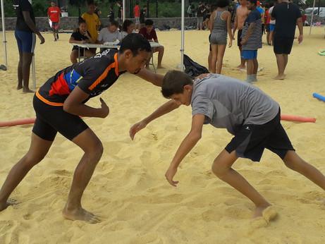 Beach wrestling : championnat académique de La Réunion