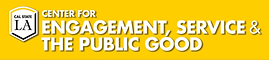 Cal State LA Center for Engagement, Service and the Public Good logo