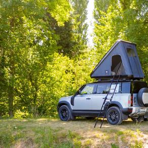 Campeggio a bordo di Land Rover Defender
