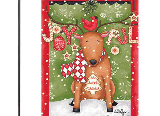 Joyful Reindeer Mini Flag