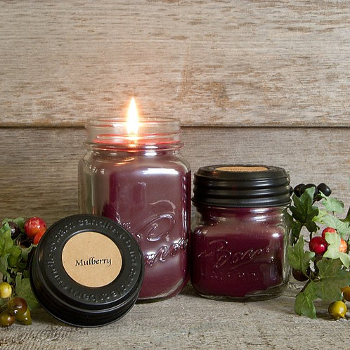 Mulberry Soy Blend Jar Candle 8oz.
