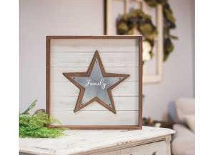 Family Star Shadowbox Sign