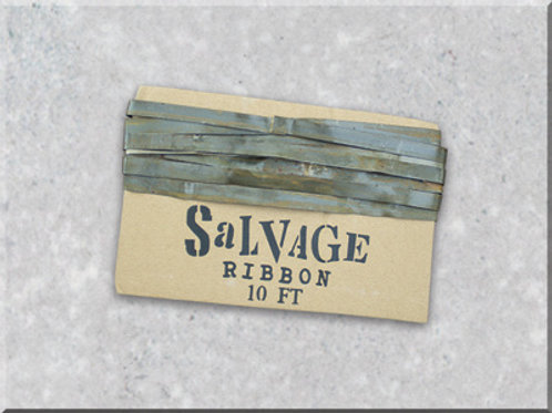 "Antique Silver 1/4"" Salvage Ribbon"