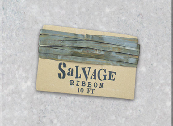 "Antique Silver 1/4"" Salvage Ribbon"