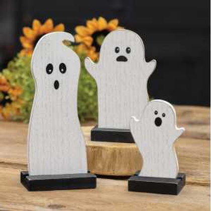 Wooden Ghosts - Set of 3