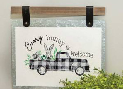 Every Bunny Is Welcome Plaque