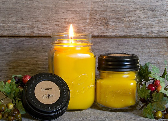 Lemon Chiffon Soy Blend Jar Candle 8oz.