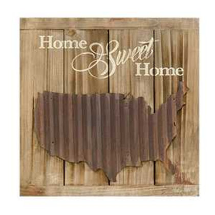 """Home Sweet Home"" Slat Sign"