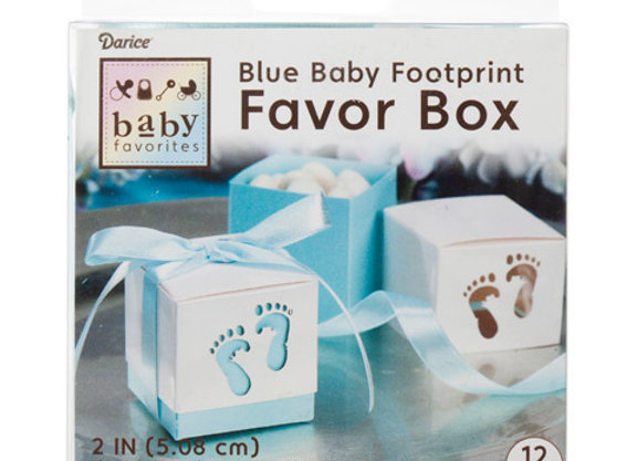 Favor Box - Baby Feet - Blue