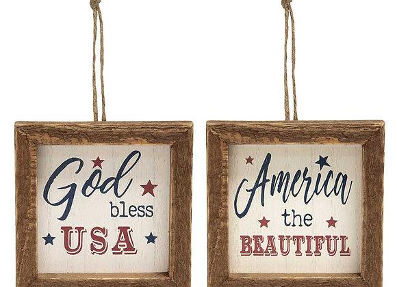 Americana Framed Ornaments