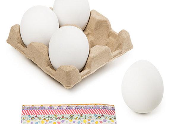 Darice Large Plastic Crafting Eggs: 4 Pack