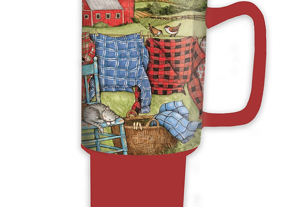 Favorite Flannel Ceramic Travel Mug