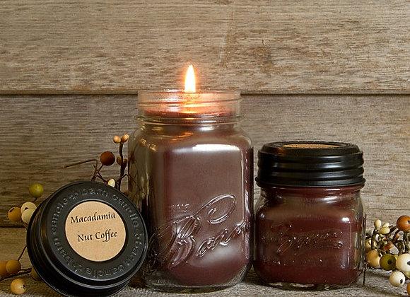 Macadamia Nut Coffee Soy Blend Jar Candle 16oz.