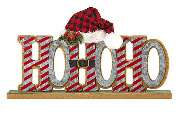 Ho Ho Ho Tabletop Sign