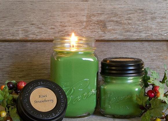 Kiwi Strawberry Soy Blend Jar Candle 8oz.