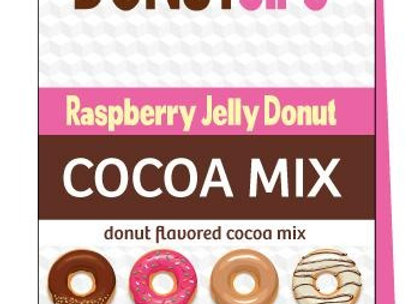 Donut Sips Raspberry Jelly Donut Cocoa Mix - 2 servings