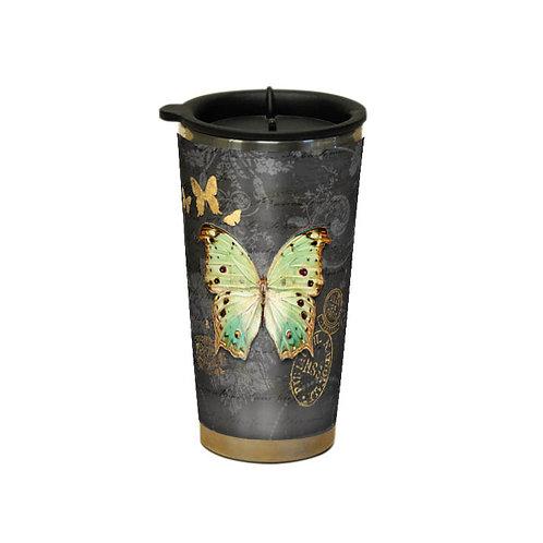 Gilded Butterfly Traveler Mug