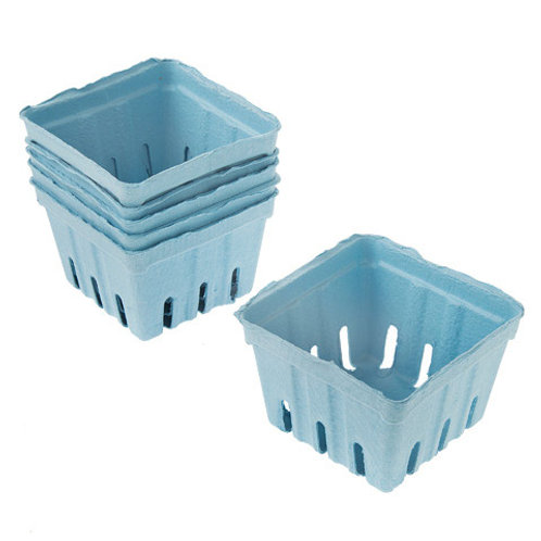 Paper Berry Baskets - Light Blue