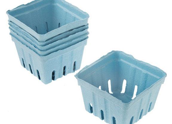 Paper Berry Baskets - Light Blue