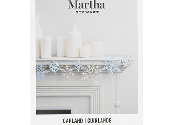 Martha Stewart Crafts® Snowflake Build Your Own Garland: 60 Pieces