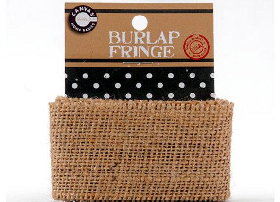 Burlap Carded Fringe