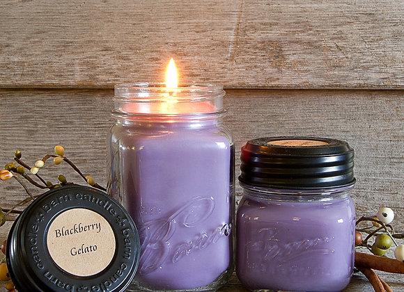 Blackberry Gelato Soy Blend 16oz. Jar Candle