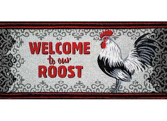 Cardinal Rooster Coir Rug - Lg