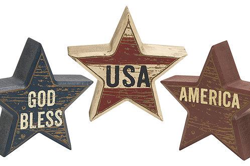 USA Star Sitters (Set of 3 stars)