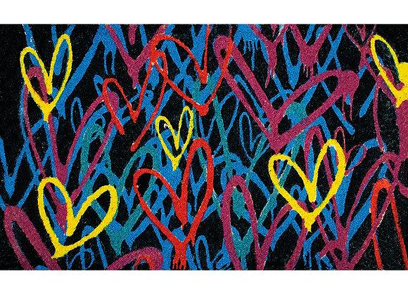 Heart Coir Rug - Sm