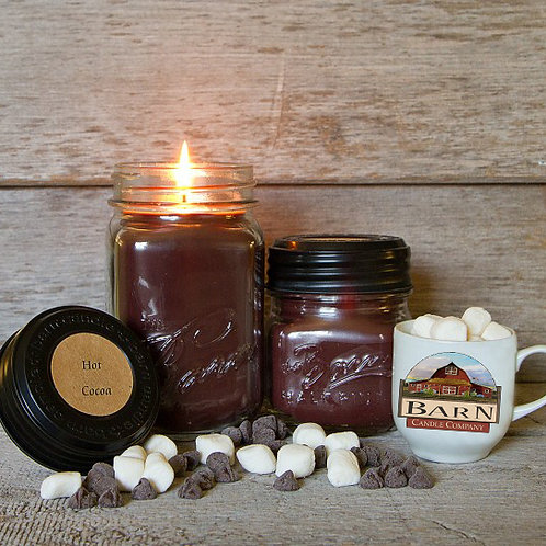 Hot Cocoa Soy Blend 16oz. Jar Candle