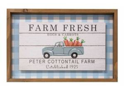 Farm Fresh Eggs & Carrots Shadowbox Sign