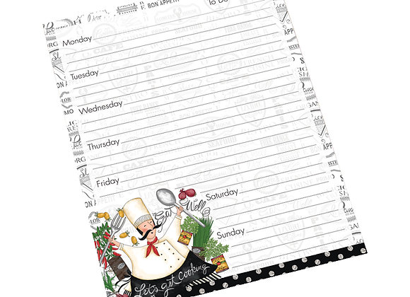 Let's Get Cooking Jumbo Weekly Planner