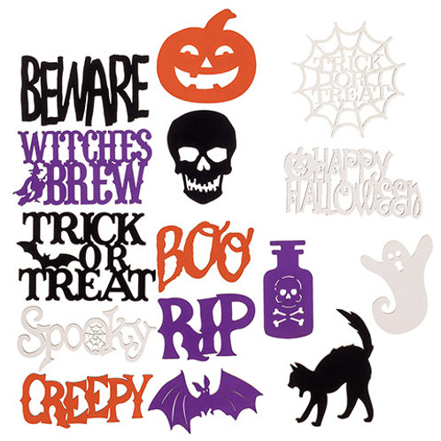 Painted Halloween Shapes & Words