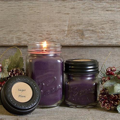 Sugar Plum Soy Blend Jar Candle 8oz.
