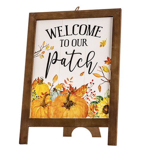 Welcome To Our Patch Easel