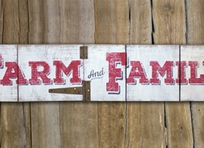 Farm & Family Hinged Sign