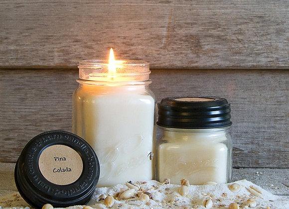 Pina Colada Soy Blend Jar Candle 8oz.