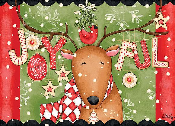 Joyful Reindeer Door Mat